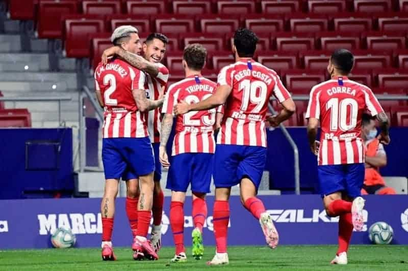 Atletico Madrid are leading in comparison to Real Madrid