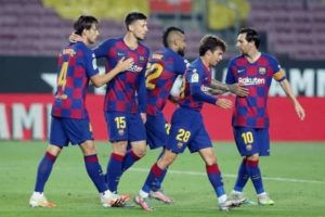 Football club Barcelona is moving to the right direction