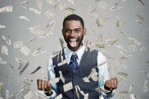 Black man wins a lot of money in the lottery