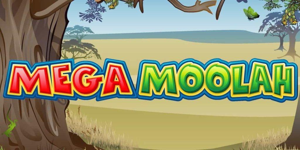 Logo of Mega Moolah progressive slots