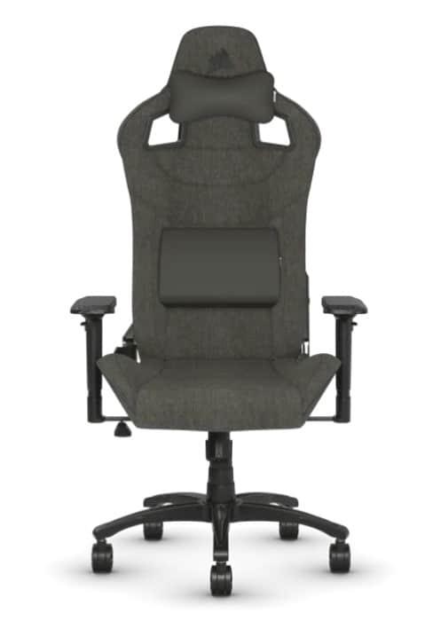 Une chaise de jeu Corsair T3 Rush marron