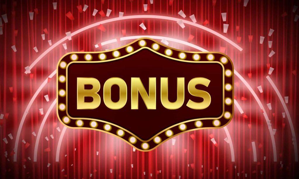 Casino bonus sign