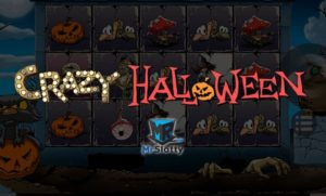 Logo of Crazy Halloween online real money slot game