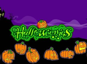 Angry pumpkins and logo of Halloweenies online free slot