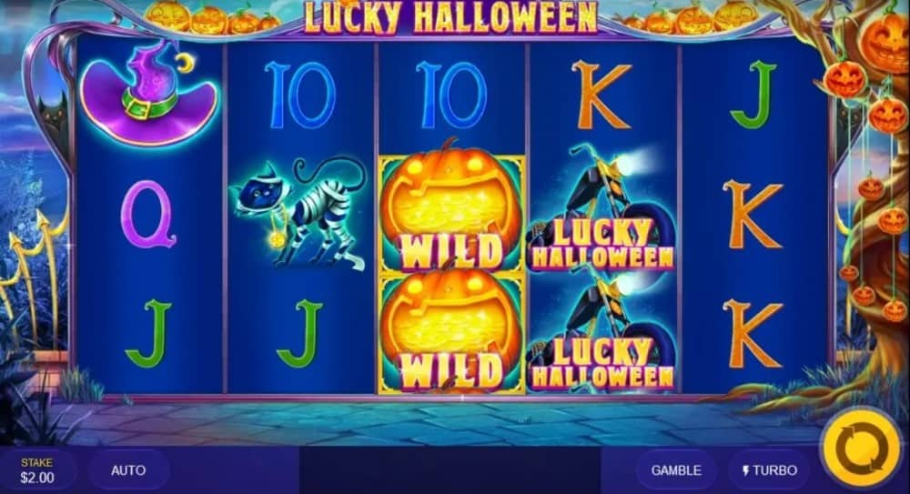 Gameplay of Lucky Halloween slot game