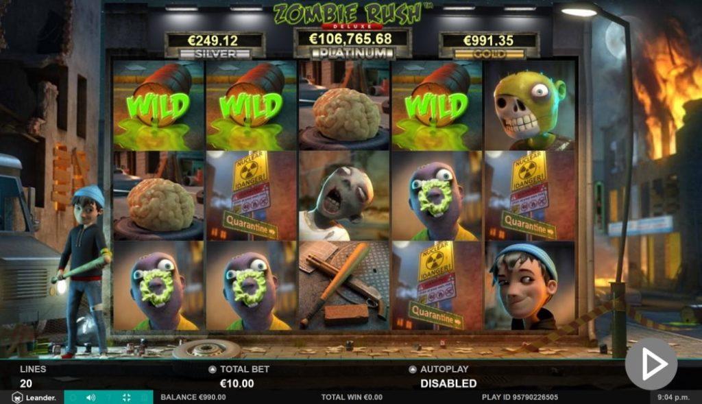 Gameplay of Zombie Rush Slot