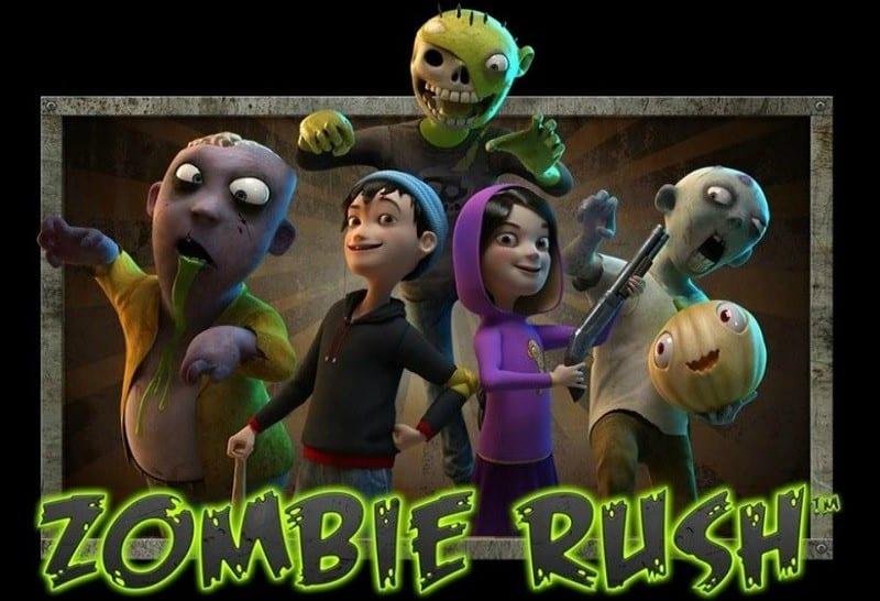Zombies et héros du jeu de machine à sous Zombie Rush