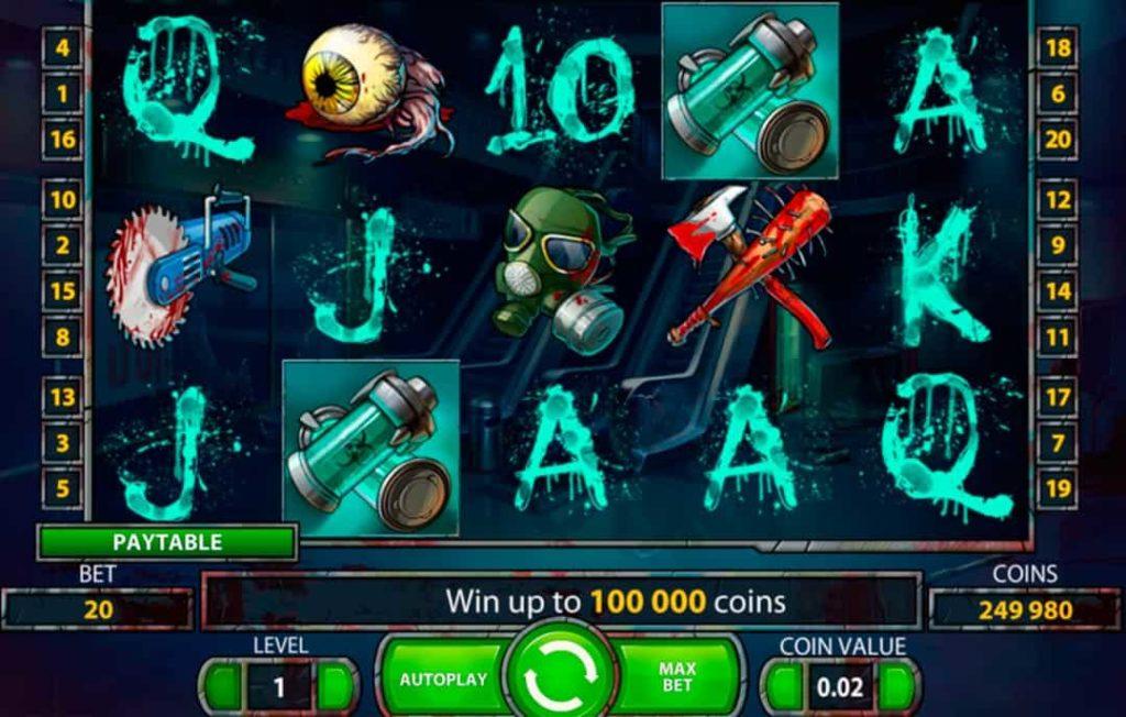 Gameplay de Zombies jeu de machine à sous en ligne