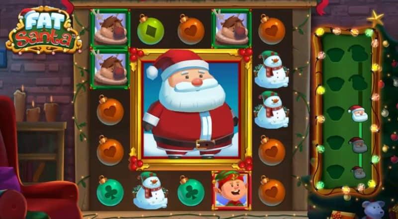 Gameplay de Fat Santa jeu de machine à sous en ligne