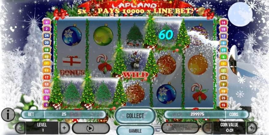Caractéristiques Bonus dans la machine à sous de Noël en ligne Lapland