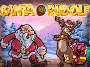 Logo de Santa vs Rudolf fente de Noël en ligne