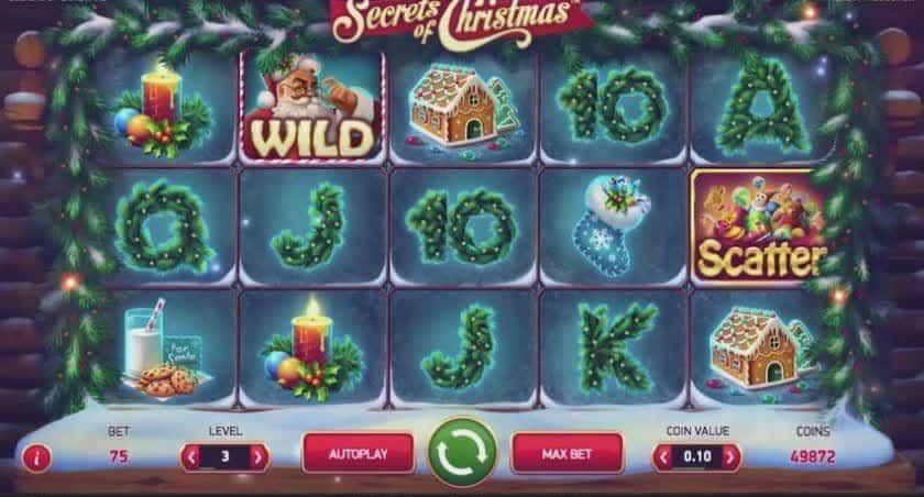 Le gameplay de Secrets of Christmas fente