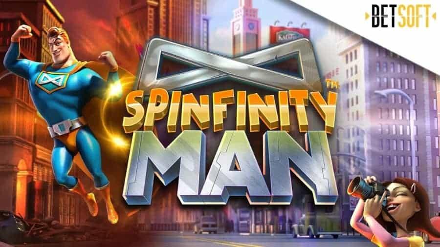 Spinfinity Man slot game with big bonus
