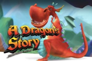 Red dragon on the logo of A Dragon's Story Online Slot