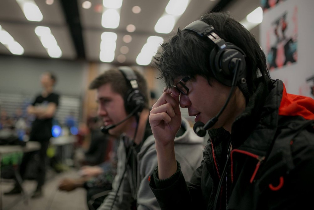 The match between two gamers during the Canada Cup Gaming event