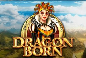 A logo of Dragon Born Slot Game