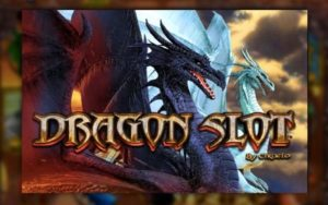 Two dragons are on the logo of Dragon Online Slot