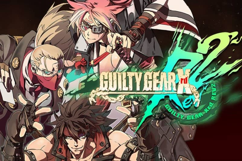 Logo and main heroes of Guilty Gear Xrd REV 2 video game