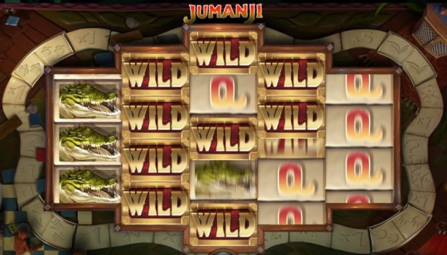 Wild features of Jumanji online video slot by NetEnt