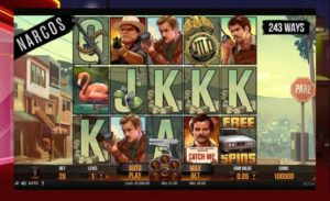 A gameplay of Narcos NetEnt online video slot by NetEnt