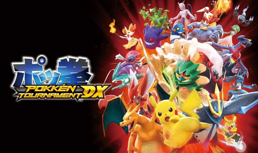 Logo and characters of Pokken Tournament DX video game