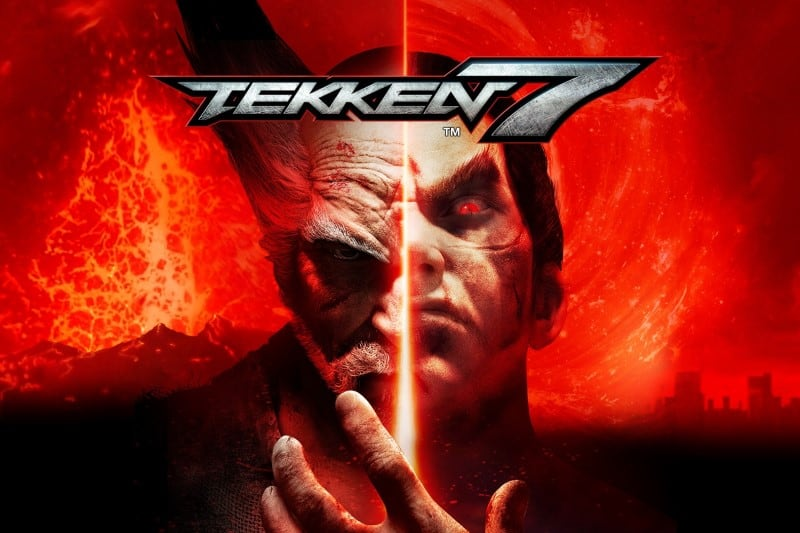 Logo and the main hero of Tekken 7 video game