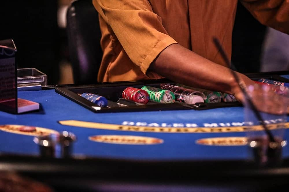 Casino tips: this is dealer at his table