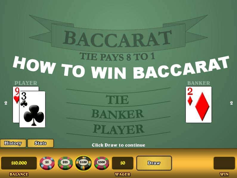 How to win Baccarat — illustration