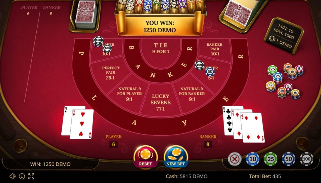 Illustration of the Baccarat winning strategy
