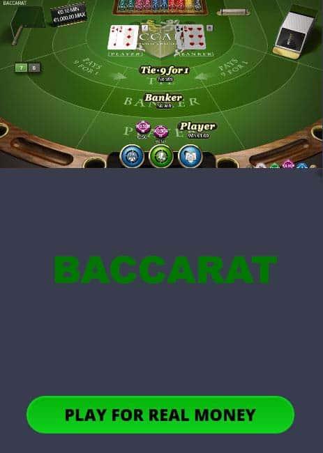 Baccarat mobile game