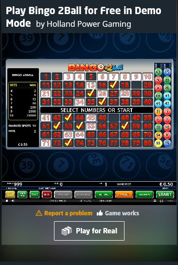 bingo demo mobile game online