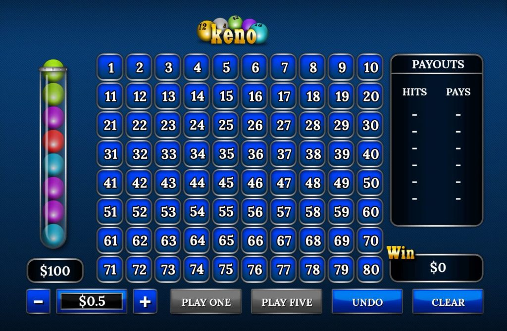 Keno game — learn how to play