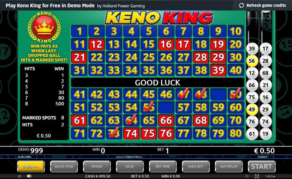 Keno game demo online