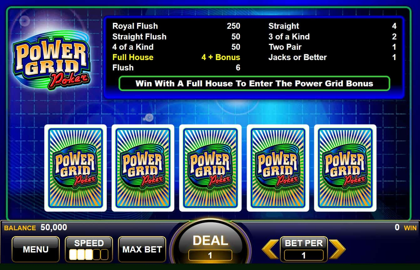 Learn how to play video poker in demo mode
