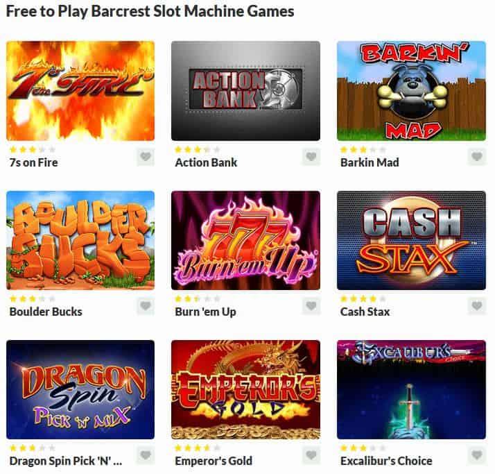 Barcrest Slot Machine Games