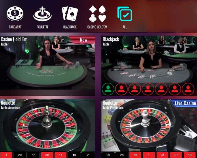Live Roulette mobile game