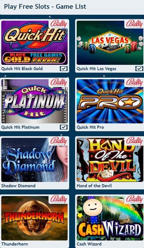 Bally slot games online