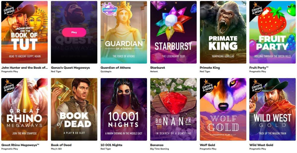 Minimum deposit casino games variety