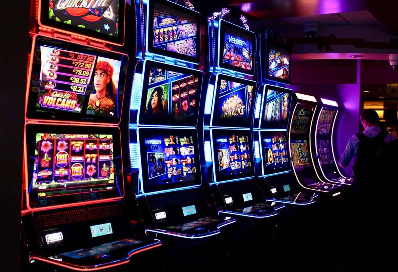 Slot machines in a local casino