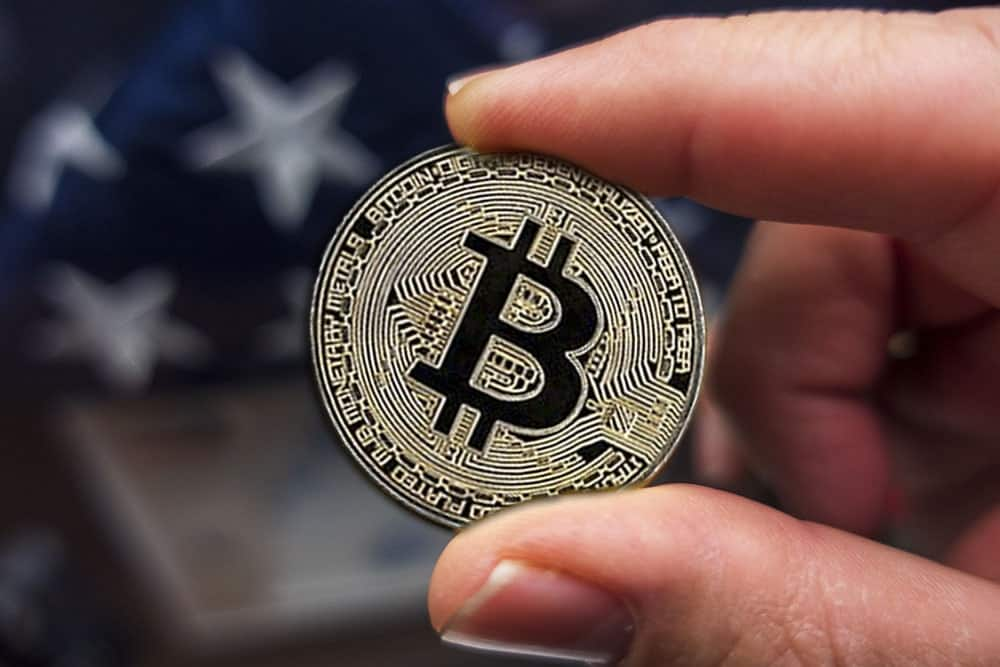 Bitcoin in the hand