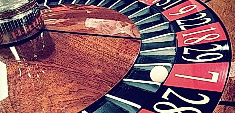 roulette wheel at casino